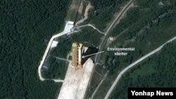 去年9月衛星圖片顯示的北韓一座導彈發射場。