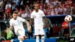 تريپير، بازیکن انگلستان که یگانه کول انگلستان را وارد دروازه کروشیا ساخت
