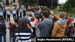 Protesti u Banja Luci 27.08.2018. ispred palate RS-a.