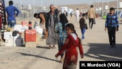 Many Iraqi families of IS fighters live in refugee camps like this one in the Haj Ali camp in northern Iraq, Dec. 27, 2017. Roughly 1,400 foreign women and children are being held separately with unknown futures, according to Human Rights Watch.