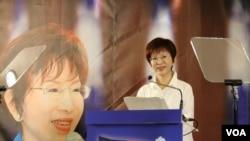 国民党候选人洪秀柱(美国之音记者杨明拍摄)