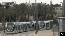 Jerusalem is testing a light rail system extending from the Western part of the city into the Eastern parts