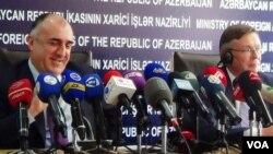 Azərbaycan xarici işlər naziri Elmar Məmmədyarov və ATƏT-in sədri Leonid Kojara