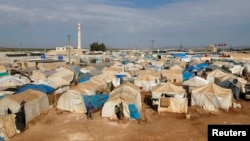 A general view of the Bab Al-Salam refugee camp in Azaz, near the Syrian-Turkish border, Oct. 27, 2014.