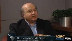 Hernando de Soto es presidente del Instituto de Libertad y Democracia con sede en Lima, Perú.