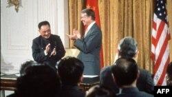 1979年1月31日邓小平和美国总统卡特在白宫