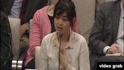 香港書商桂民海的女兒安傑拉.桂。(視頻截圖)
