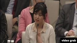 香港書商桂民海的女兒安吉拉桂。(視頻截圖)