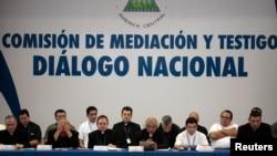 Une vue de l'assemblée du dialogue national à Managua, au Nicaragua, le 16 juin 2018.