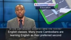 Students in Cambodia Want to Learn English