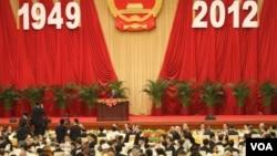 中国举行国庆招待会(美国之音记者 东方拍摄)