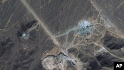 A satellite image made available to AFP on 28 Sept. 2009 by Digitalglobe shows a suspected Iranian nuclear facility near the holy Shiite city of Qom
