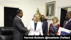 Gurukota reAfrica kuBritain, Amai Harriett Baldwin, vachisangana naVaMnangagwa