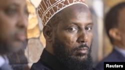 FILE - Former al Shabaab leader Mukhtar Robow attends a news conference in Baidoa, Somalia, Nov. 4, 2018.