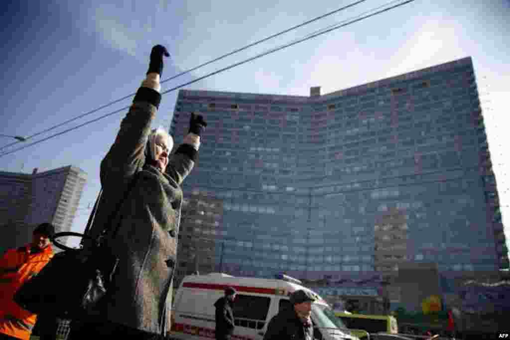 Під час протесту у Москві. 10.03.2012.