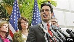 El líder de la mayoría republicana en el Congreso, Eric Cantor participó del almuerzo de trabajo privado en la Casa Blanca.