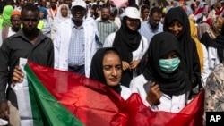 Manifestations à Khartoum au Soudan, le 28 avril 2019.