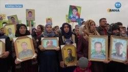 Suriyeli Kürtler Türkiye'yi Protesto Etti