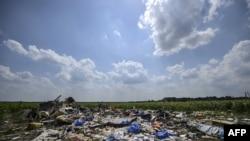 Les débris du vol MH17 en Ukraine (AFP PHOTO/ BULENT KILIC)