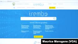 Une capture d'écran de la plateforme e-gouvernance Irembo.com des services administratifs rwandais, , à Kigali, Rwanda, 10 juin 2016. VOA/Maurice Marogane