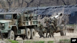 مانور نظامی سربازان کره جنوبی