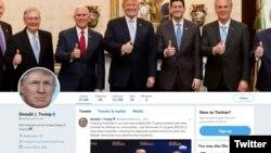 Twitter profil predsjednika Trumpa