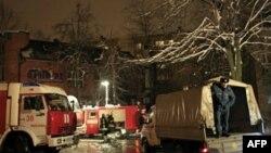 На месте взрыва в московском ресторане.