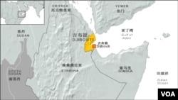 吉布提地理位置圖