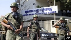Phnom Penh Municipal Court this week continued hearings of a group of six political activists accused of inciting violence in a demonstration in July 2014.