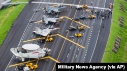 台灣空軍軍演模擬中國軍隊攻台。(2020年10月27日)