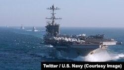 La marine américaine a annoncé réactiver sa 2e Flotte chargée de patrouiller en Atlantique Nord, sept ans après l'avoir démantelée, dans un contexte de nouveaux dangers et de montée en puissance de la Russie, 5 mai 2018. (Twitter/U.S. Navy)