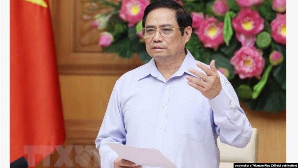 Thủ tướng Việt Nam Phạm Minh Chính tại một cuộc họp hôm 18/8/2021.