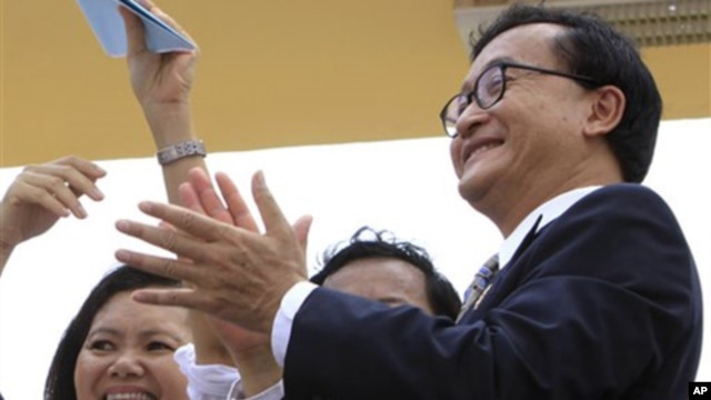 Sam Rainsy lives in exile, facing criminal charges he says are politically motivated and are preventing his return to the country.