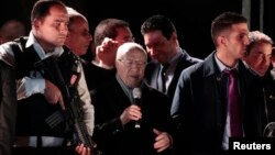 Beji Kaid Essebsi dunyoviy Nidaa Tounes partiyasi rahbari Tunisda so'zlayapti. 21-dekabr, 2014.