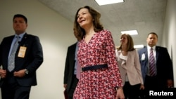Nominee to be Director of the Central Intelligence Agency, Gina Haspel, arrives for meetings with Senators on Capitol Hill in Washington, May 7, 2018.