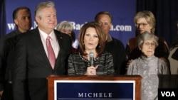 Michele Bachmann memutuskan mundur dari kampanye untuk Capres Partai Republik (4/1).