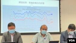 香港民意研究所10月7日公布,特首林郑月娥首届任期最后一份施政报告的即时民意调查,结果显示50%受访者对施政报告表示不满 (美国之音/汤惠芸)