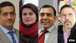 Mansur al-Jamri, de Bahrein, Natalya Radina, de Bielorrusia, Javier Arturo Valdez Cárdenas, de México, y Omar Cheema, de Pakistán, son los premiados.