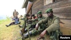 Phiến quân M23 ở Karambi, miền đông Cộng hòa Dân chủ Congo, gần biên giới với Uganda, 12/7/2012