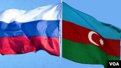 Azərbaycan və Rusiya bayraqları