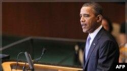 Президент США Барак Обама виступає на 66 сесії Генеральної Асамблеї ООН у Нью-Йорку