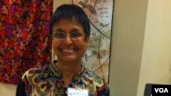 Penulis buku 'On Clipped Wings,' Jameela Alter, dalam acara 'We The People' di Washington baru-baru ini.