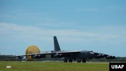 美軍B-52戰略轟炸機。