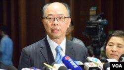 香港運輸及房屋局局長陳帆 (美國之音湯惠芸拍攝)