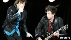 "Mick Jagger y Keith Richards en concierto durante la gira ""A Bigger Bang"" en 2007."