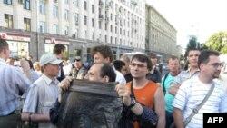Акция протеста на Тверской площади 28 июня 2010г.