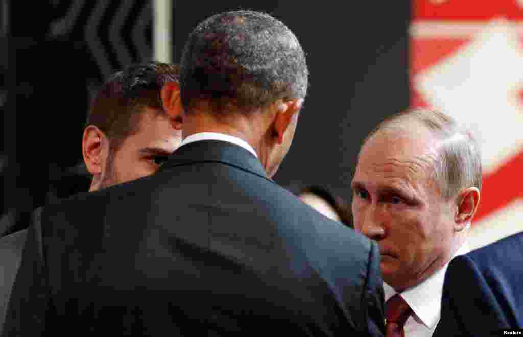 Prezident Obama va Prezident Putin uchrashdi, Lima, Peru
