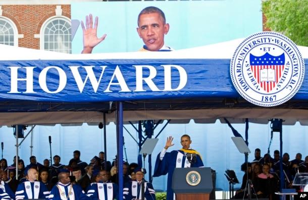 Obama at Howard University graduation