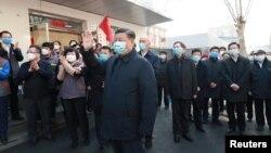 Ông Tập Cận Bình đi kiểm tra việc phòng chống dịch virus corona ở Bắc Kinh, Trung Quốc, vào ngày 10/2/2020.