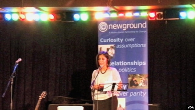 A speaker at a NewGround event